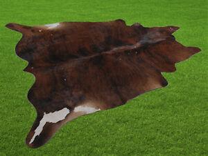 "New Cowhide Rugs Area Cow Skin Leather 17.69 sq.feet (49""x52"") Cow hide U-5779"