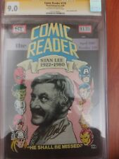 COMIC READER 179 CGC SS 9.0 SIGNED BY STAN 'THE MAN' LEE RARE PHOTO COVER OBIT