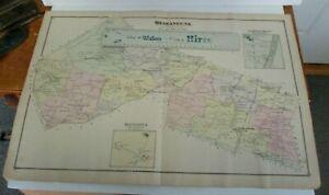 1875 Beers Atlas Map SHAWANGUNK, Plattekill etc.
