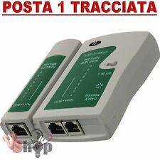 TESTER CAVO DI RETE LAN TELEFONICO RJ45 / RJ11 / RJ12 NETWORK ETHERNET
