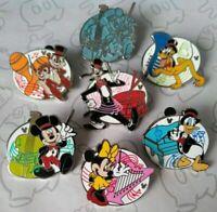 Musicians 2019 Hidden Mickey Doanld Minnie Pluto Goofy DLR 7 Disney Pin Set