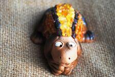 Amber frog ceramics - handmade