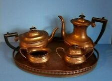 Vintage SheffieldSilver Plated Tea Set-Silver on Copper-Made In England