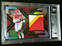1/1 RC JSY #15/99 PATRICK MAHOMES II BGS 9 3 CLR PATCH *ROOKIE PRIZM 2017 Select