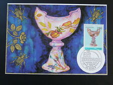 glass art Nouveau Emile Galle vase insect maximum card 74842
