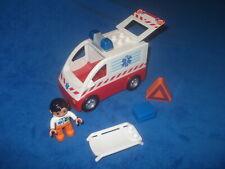 Lego Duplo Ville 1 X KRANKENWAGEN KRANKENTRAGE Warndreieck Arzt Koffer aus 4979