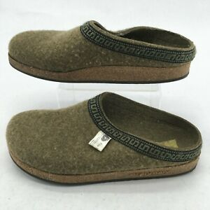 Stegmann Womens 9.5 Casual Slip On Mule Clogs Slippers Comfort Shoes Wool Green