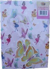 Gem Fairies pink wrapping paper (gift wrap) & butterfly tags