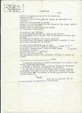 TAPUSCRIT AVEC ANNOTATIONS + CARTE DE VISITE NESTOR BURMA + DÉDICACE LÉO MALET