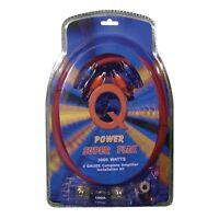 Q Power Super Flex 4 Gauge 3000 Watt Amplifier Wiring Amp Kit | 4GAMPKIT-SFLEX