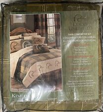 Ducks Unlimited Plaid Comforter Set - Twin Size, 3 Piece Set, Green/Brown Plaid