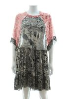 Isabel Marant Printed Silk-Chiffon Dress / Red, Black, Stone / RRP: £780.00