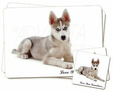 Husky 'Love You Grandma' Twin 2x Placemats+2x Coasters Set in Gift , AD-H54lygPC