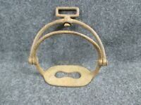 Early Americana Civil War Era Large Swinging Type Iron Stirrup