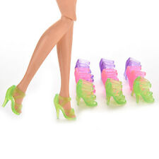 10Pairs High Heel Transparents Shoes For Barbie Fashionable  Accessories FC