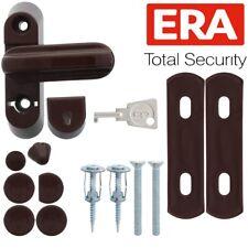 BROWN WINDOW SAFETY LOCK SET Timber Wood Door Frame Sash Jammer Lock Restrictor
