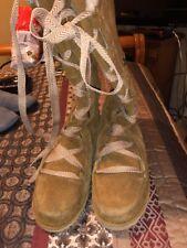 North Face Women's Millennia Tan Suede Knee High Lace Up Heat Seeker Boots 9