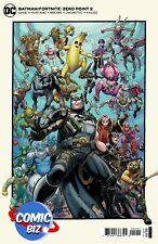 BATMAN FORTNITE ZERO POINT #2 (2021) 1ST PRINTING CARDSTOCK VARIANT + GAME CODE