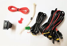 Fog Light Lamp universal Wiring harness Kit wire Fuse Switch Relay for H10 bulb