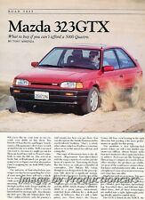 1988 MAzda 323 GTX Original Car Review Report Print Article J777