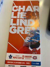 unused season hockey tickets Canadiens featuring Charlie Lindgren 2018/2019