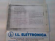 MANUALE IN ITALIANO  istruzioni d'uso per KENWOOD TH-27A/E-TH-47A/E  FOTOCOPIA