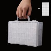64Pcs Plastic  Diamond Painting Storage Box Jewelry Drill Holder with Labels DIY