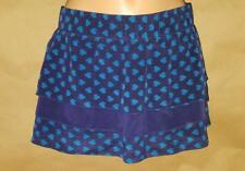 Marc Jacobs Size P Petites Layered Blues Fishes Silk Above-knee Cover-up Skirt