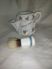 Vintage English Shaving Scuttle and Brush