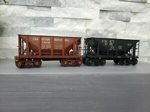 VTG. Lot of (2) O Scale Brass Max Gray Ore Cars (Jennies) EXC COND!