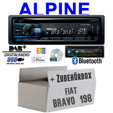Alpine Autoradio für Fiat Bravo 198 Bluetooth DAB+ CD/USB/MP3 Apple Android Set