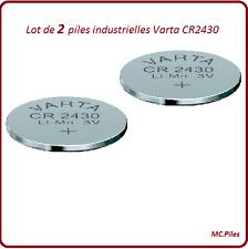 2 batteries buttons CR2430 lithium Varta Industrielle