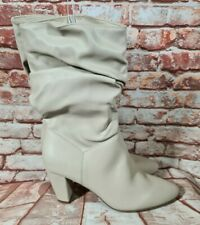 BNWT Ladies Sz 10 Anko Brand Long Taupe Pull On Boots Heels