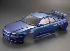 Killerbody Nissan Skyline R34 1/10 Karosserie Metallic Blau 195mm RTU - KB48716