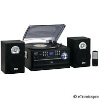 LP JENSEN 33/45/78 RPM RECORD PLAYER CD CASSETTE PLAYER RADIO SYSTEM COMBO NEW