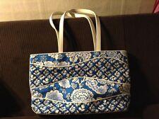 Vera Bradley NWT TOTE shopping or travel bag BLUE LAGOON RARE