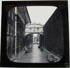 Glass Magic lantern slide VENICE THE BRIDGE OF SIGHS C1900 ITALY
