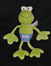 Peluche Doudou Grenouille SIGIKID Vert Bleu Schmusetuch Froggy Frosch 27 Cm