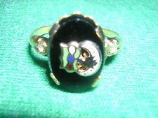 Black Onyx Daughtersof Rebekah ODD FELLOWS 10k GF RING Ladies vintage 6,7,9,10
