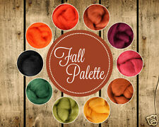 Fall Color Palette Wool Roving Fiber 2.5ozs/70 gms. Needle Felting Spinning Soap