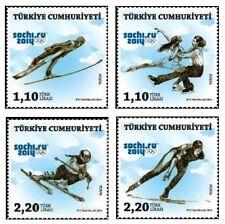 TURKEY 2014, SOCHI 2014 WINTER OLYMPICS, SKI, JUMPING, ICE SKATING, SPORTS, MNH