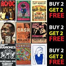 More details for vintage best band alternative rock music concert posters a4 a3 300gsm quality