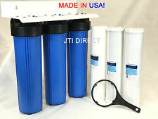 """AquaMaxx 3-Stage 20"""" Big Whole House/Mobile Car Wash Water Filter Set System"""