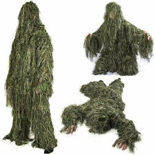 Kids/Childrens Woodland Camo/Camouflage Hunting 3D Ghillie Burlap Suit 2020 HOT