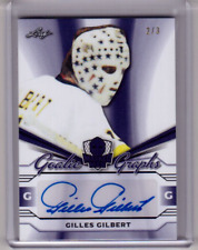 GILLES GILBERT 17/18 Leaf Masked Men Goalie Graphs PURPLE Autograph #2/3 Signed