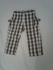 Bella Bliss baby pants grey and cream gingham size 18m