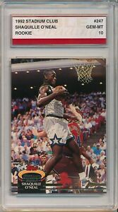 1992 Stadium Club Shaquille O'Neal RC Rookie # 247 Noble Grading Gem Mint 10