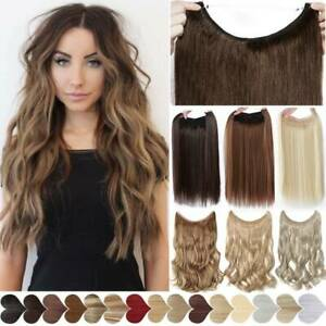 Secret Halos Wire Hair Extensions Invisible Head Band Thick One Piece as Human