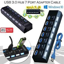 7 Port USB 3.0 Multi Hub Splitter Super High Speed 5 GBps External Extension UK