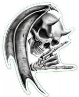 Aufkleber Teufel Totenkopf Airbrush Devil Skull Sticker Helm 8 x 6 cm